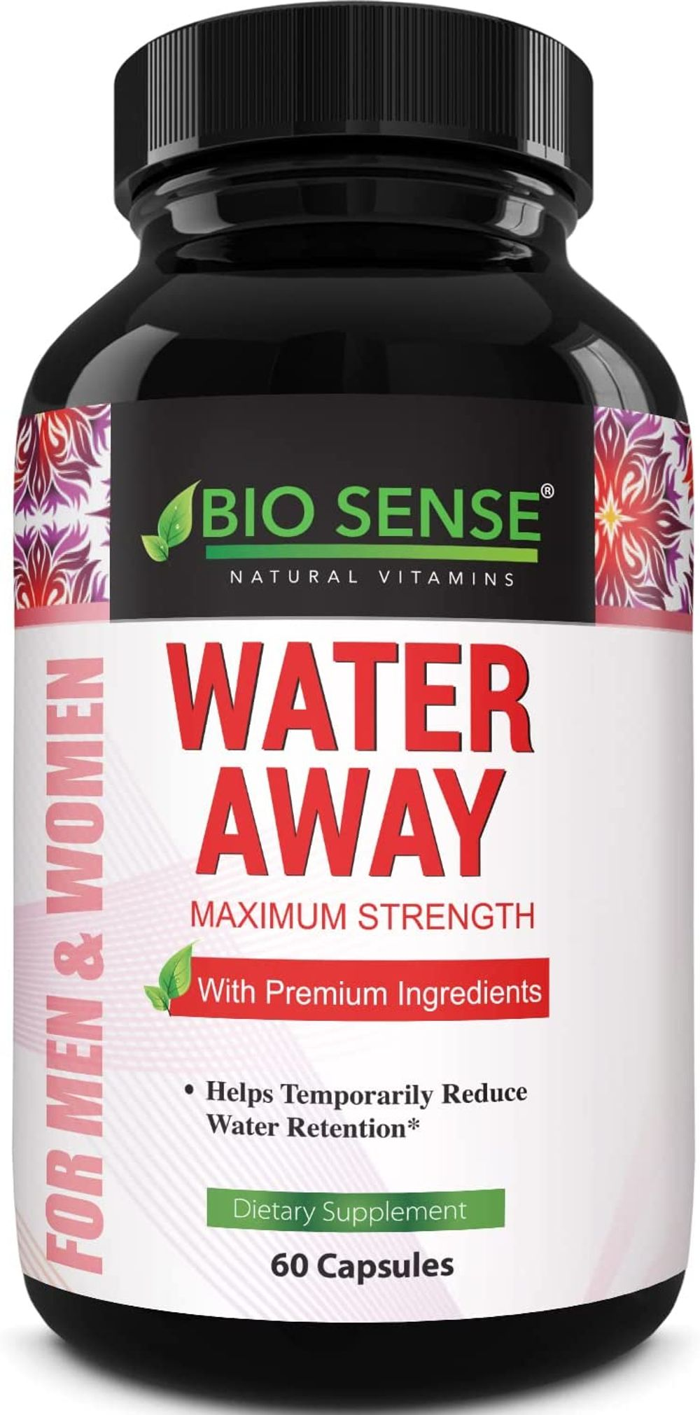 Water Away Pills Diuretic Supplements - Natural Diuretic Water Pills to Reduce Water Retention with Dandelion Leaf Extract Pure Green Tea Juniper Berry Vitamin B6 for Water Balance and Kidney Cleanse
