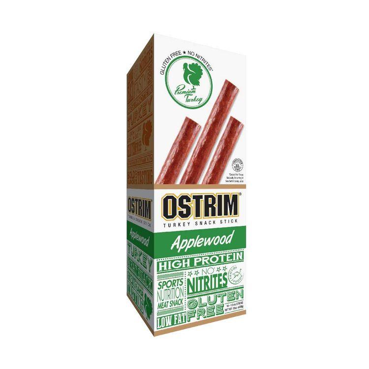 Ostrim Turkey Jerky Snack Sticks-Applewood Flavor, 1.5 oz (Pack of 10)