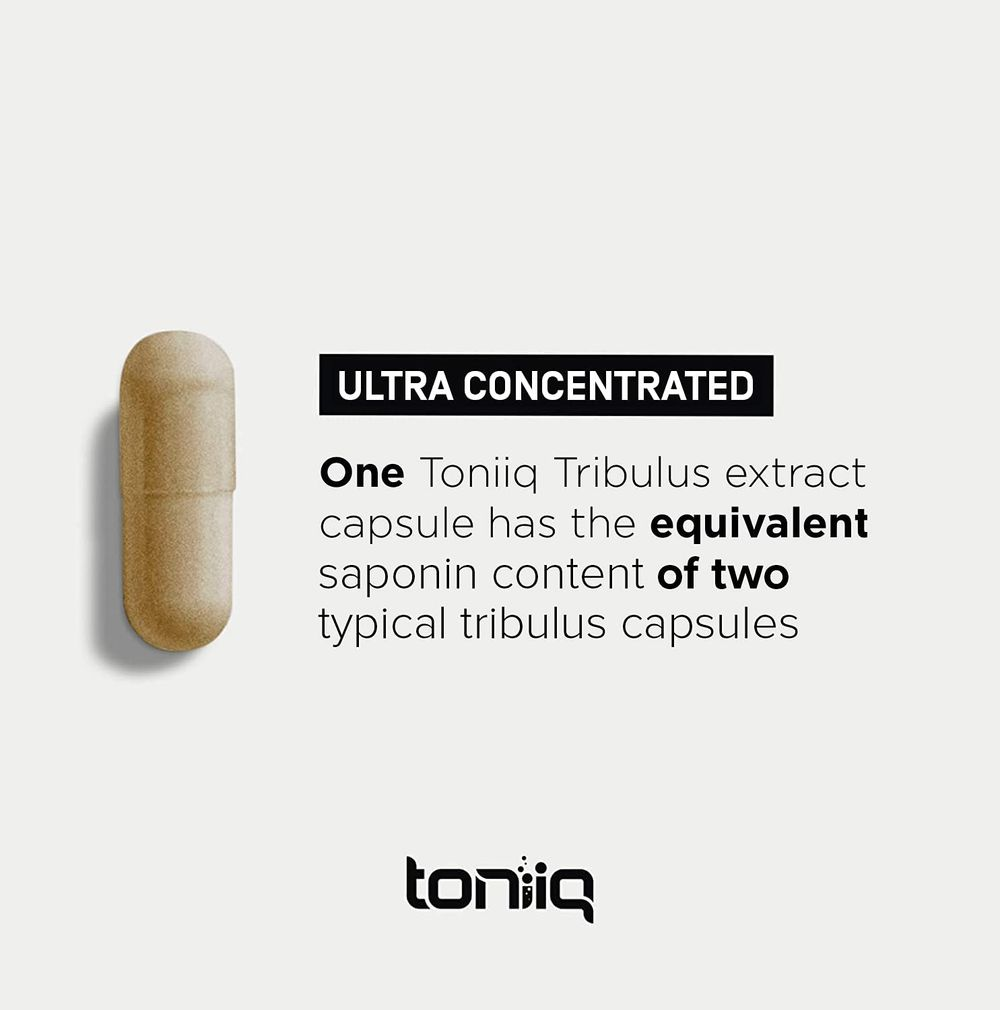 Ultra High Strength Tribulus Capsules - 95% Steroidal Saponins - 1300mg Concentrated Extract Formula for Testosterone - 120 Caps