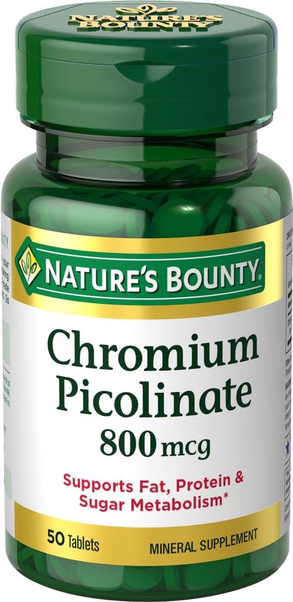 Nature's Bounty Chromium Picolinate 800 Mcg., 50-Count