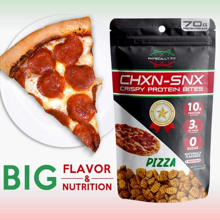 Barn Dad Nutrition, Crispy Protein Bites Pizza Flavor 7 Servings 70 Grams of Protein Per Bag, 6.9 Ounce