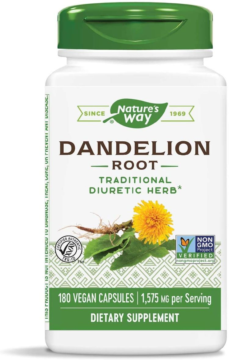 Nature's Way Dandelion Root; 1,575 mg per Serving, Non-GMO Project Verified Gluten Free Vegetarian; 180 Count
