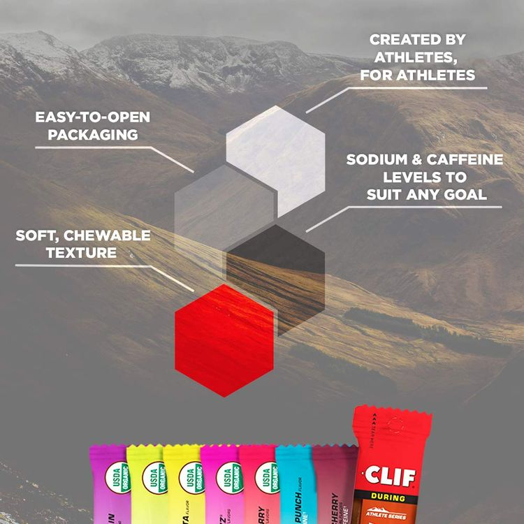 CLIF BLOKS - Energy Chews - 8 Flavor Variety Pack - Non-GMO - Plant Based Food - Fast Carbs for Cycling and Running - Workout Snack (2.1 Ounce Packet, 16 Count)
