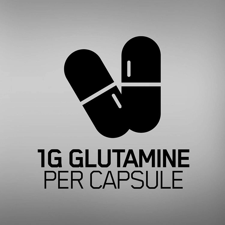 Optimum Nutrition L-Glutamine Muscle Recovery Capsules, 1000mg, 240 Count (Package May Vary)