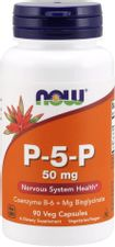 NOW Supplements, P-5-P 50 mg with Coenzyme B-6 + Mg Bisglycinate, 90 Veg Capsules