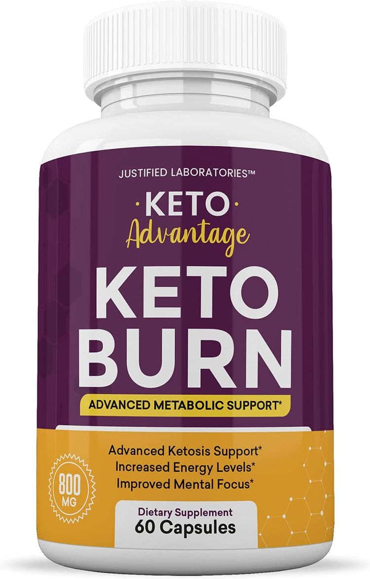 Keto Advantage Keto Burn Pills Includes Apple Cider Vinegar goBHB Exogenous Ketones Advanced Ketogenic Supplement Ketosis Support for Men Women 60 Capsules