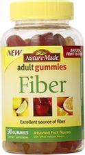 Nature Made Fiber Adult Gummies, Assorted Fruit 90 ea (Pack of 3)