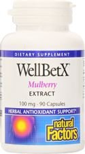Natural Factors - WellBetX Mulberry Extract, Herbal Antioxidant Support, 90 Capsules