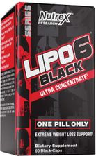 Nutrex Research Lipo-6 Black Ultra Concentrate | Thermogenic Energizing Fat Burner Supplement, Increase Weight Loss, Energy & Intense Focus | 60Count