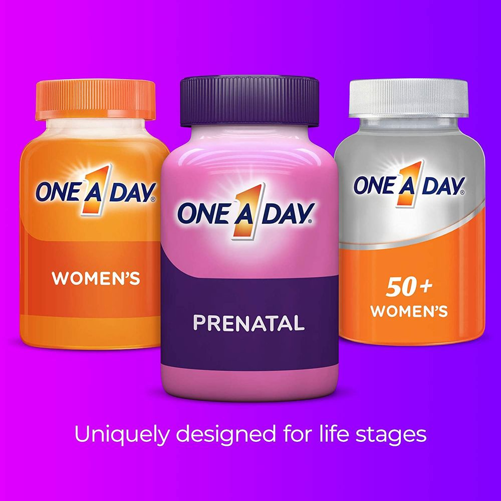 One A Day Women's Prenatal 1 Multivitamin, Supplement for Before, During, and Post Pregnancy, Including Vitamins A, C, D, E, B6, B12, and Omega-3 DHA, 90 Count