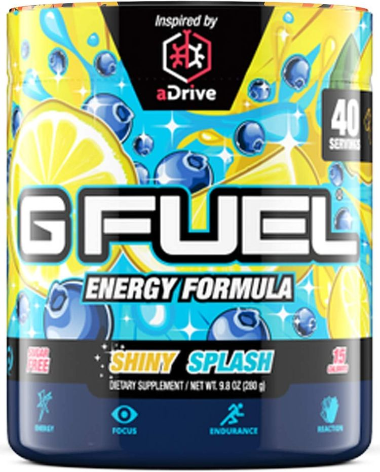 G Fuel Shiny Splash (40 Servings) Elite Energy and Endurance Powder 9.8 oz.