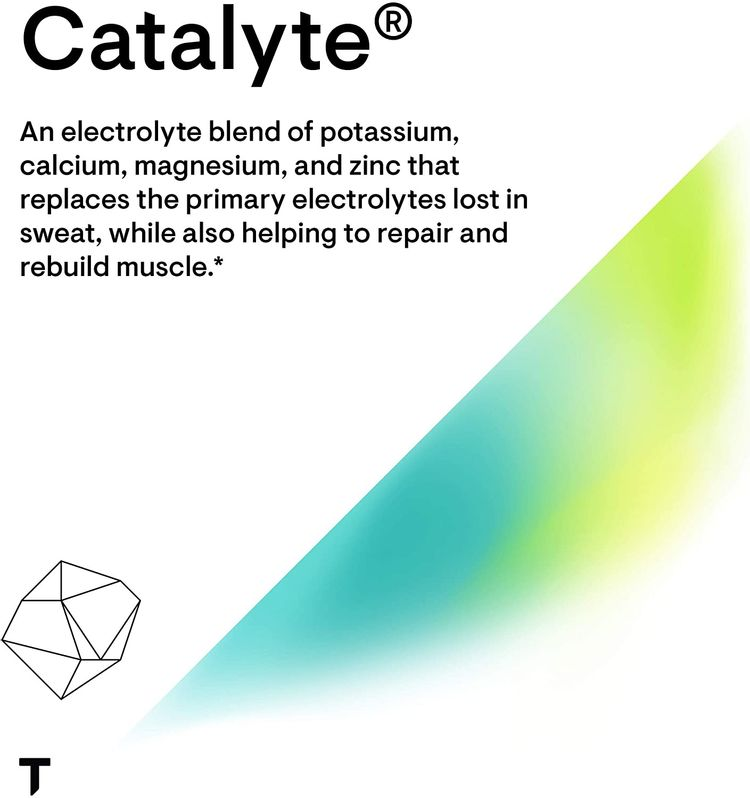 Thorne Research - Catalyte (Lemon Lime Flavored) - Electrolyte Replenishment and Energy Restoration Supplement - No Artificial Sweeteners - NSF Certified for Sport - 11.01 Oz