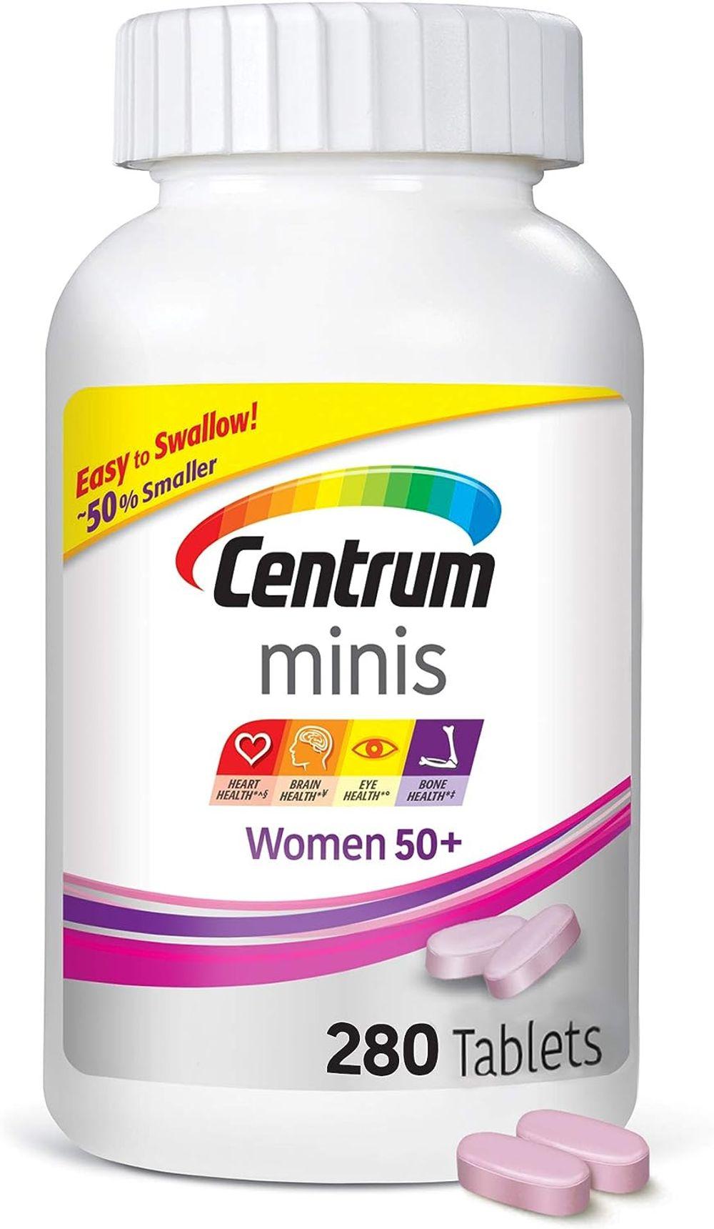 Centrum Minis Women 50+ (280 Count) Multivitamin/Multimineral Supplement Tablets