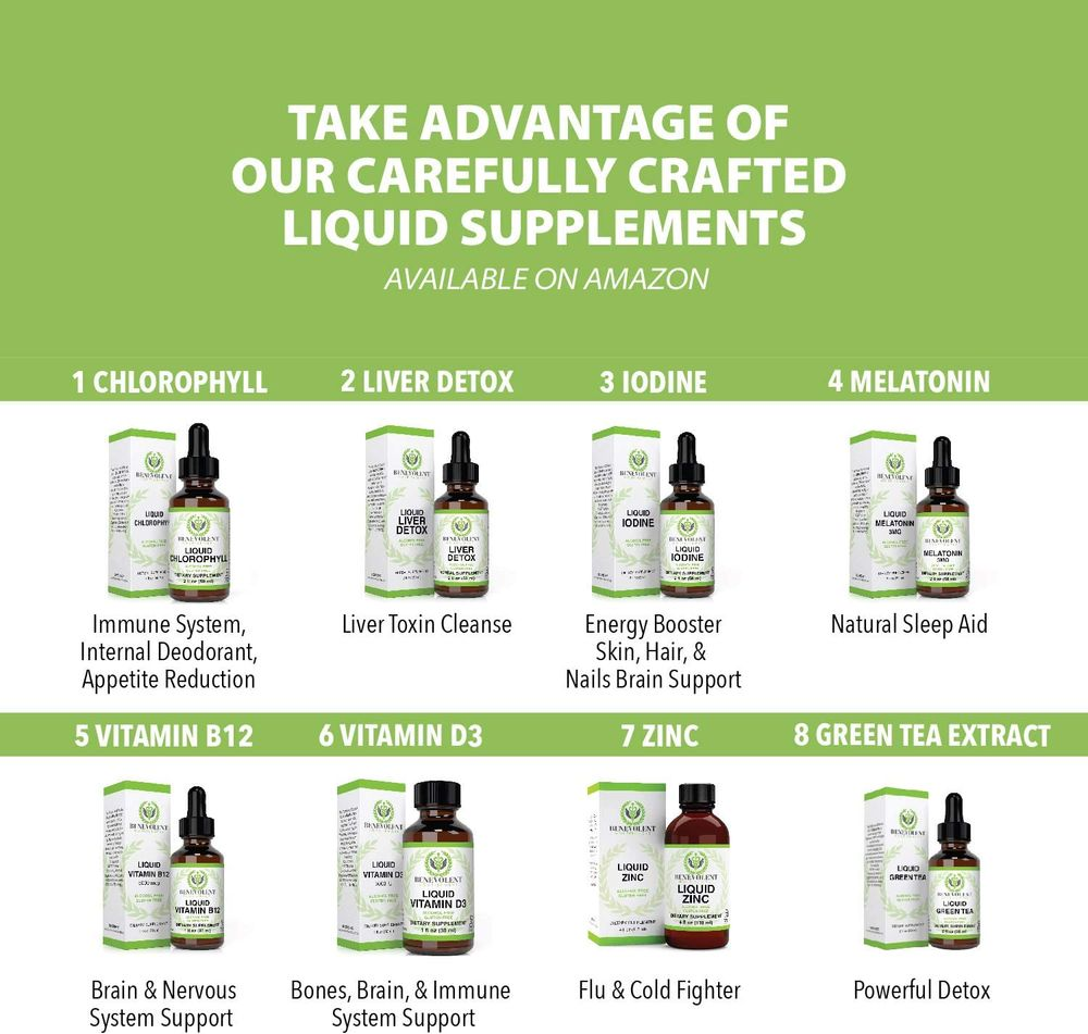 Chlorophyll Liquid Drops – Energy Boost | Immune System Support | Internal Deodorant | Altitude Sickness. Premium Quality – 100% Natural, Potent, Minty Taste, 2X Absorption.