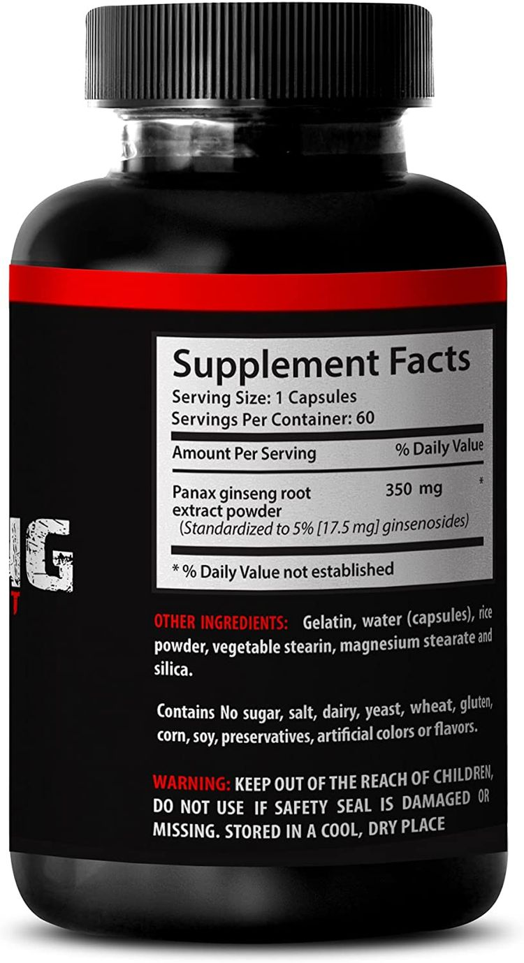 Top Ginseng Red Root Power - Natural Korean Ginseng Extracts - Concentrated from Premium Ginseng Root Extract (6 Bottles 360 Capsules)