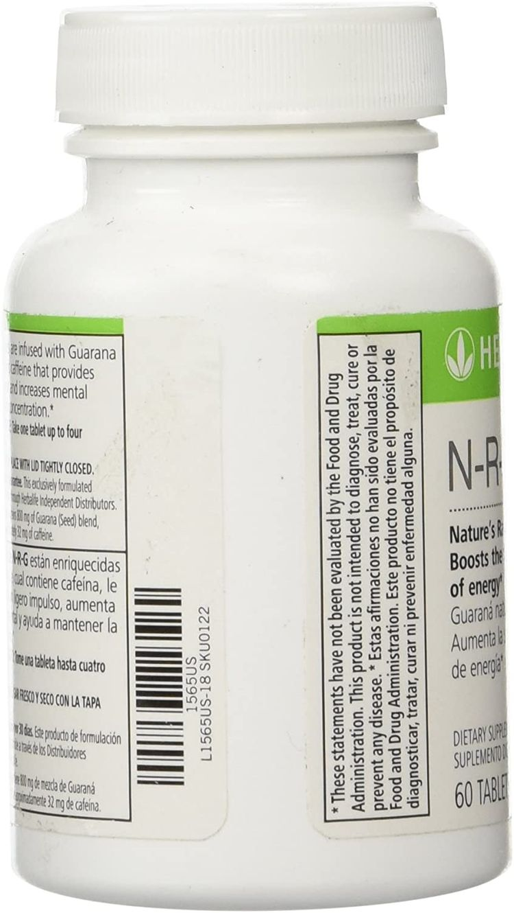 Herbalife N-R-G NATURE'S RAW GUARANA TABLETS