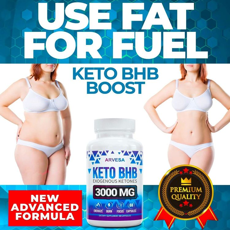 (2 Pack) Keto Pills - 5X Potent - Advanced Keto Burn Diet Pills - Best Exogenous Ketones BHB Supplement for Women and Men - Boost Energy and Metabolism - Made in USA
