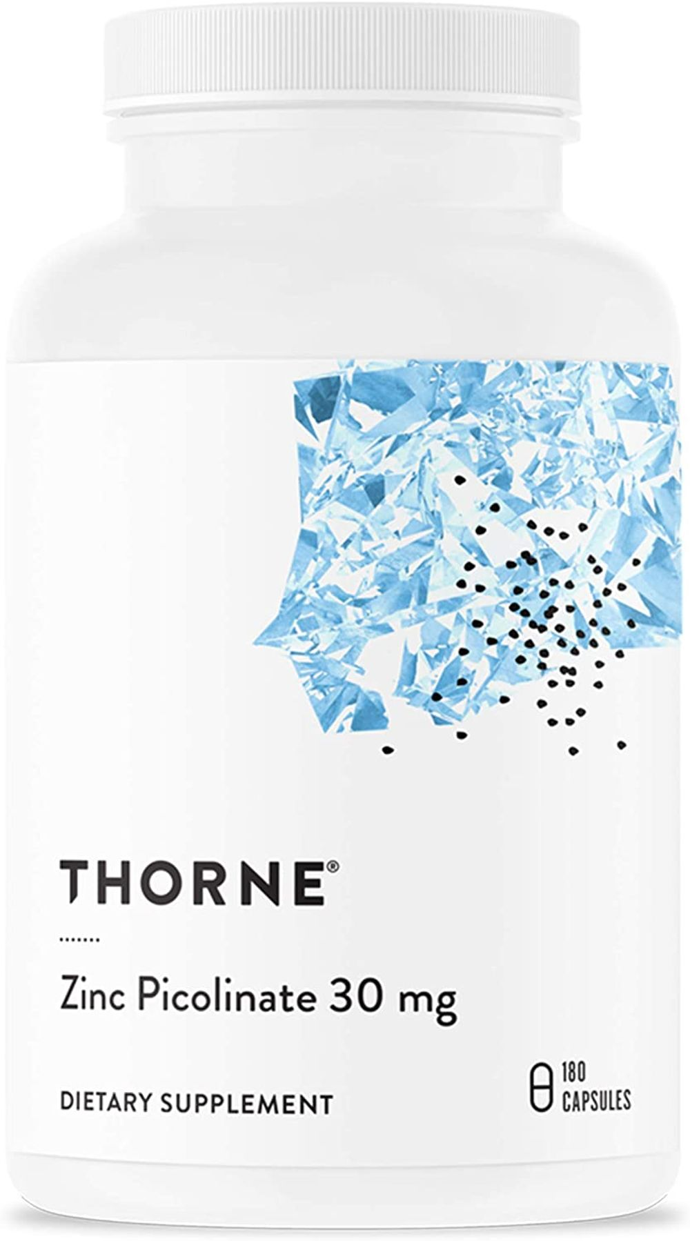 Thorne Research - Zinc Picolinate 30 mg - Well-Absorbed Zinc Supplement for Growth and Immune Function - 180 Capsules