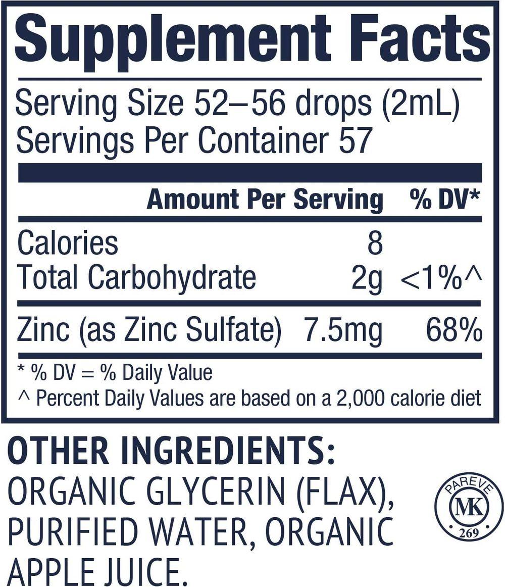Vimergy USDA Organic Zinc (115 ml)