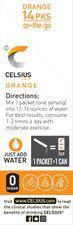 CELSIUS Orange On-the-Go Powder Stick Packs, Pack of 14