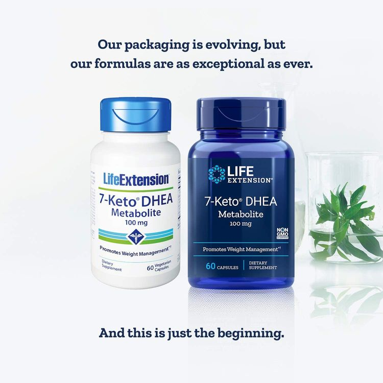 Life Extension 7-Keto DHEA Metabolite 100mg Has Been Studied to Help Promote Healthy Body Weight When Coupled with Proper Diet & Exercise - Non-GMO, Gluten-Free - 60 Vegetarian Capsules