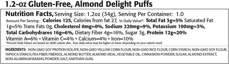 Kay's Naturals Protein Puffs, Mac & Cheese, Gluten-Free, Low Fat, Diabetes Friendly All Natural Flavorings, 1.2 Ounce (Pack of 60)