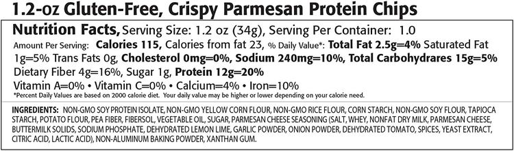 Kay's Naturals Protein Chips, Crispy Parmesan, Gluten-Free, Low Fat, Diabetes Friendly, All Natural Flavorings, 1.2 Ounce (Pack of 6)