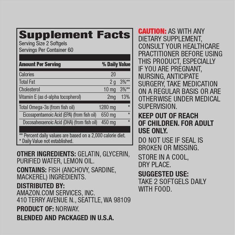 Elements Men's One Daily Multivitamin, 62% Whole Food Cultured, Vegan, 65 Tablets, 2 Month Supply & Super Omega-3, Natural Lemon Flavor, 1280 mg per Serving (2 Softgels), 120 Softgels