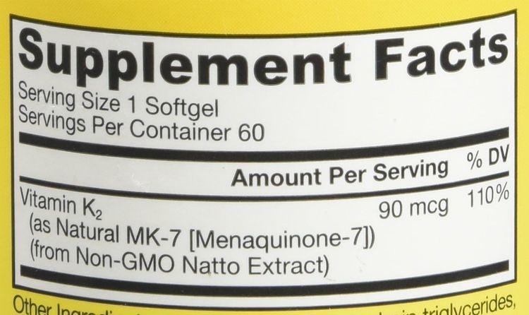Jarrow Formulas MK-7 90 mcg - 60 Softgels - Superior Vitamin K Product for Building Strong Bones - Supports Heart & Cardiovascular Health - 60 Servings
