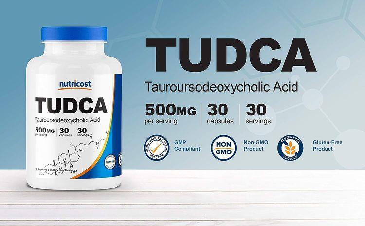 Nutricost Tudca 500mg, 30 Capsules (Tauroursodeoxycholic Acid) - Premium Quality, Gluten Free