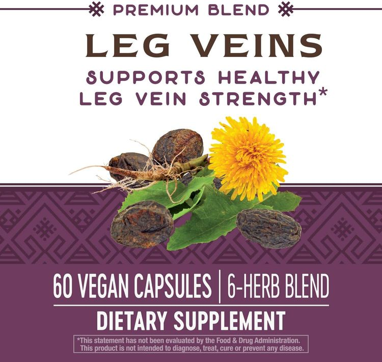 Nature's Way Leg Veins Support Blend; with Tru-OPCSTM; 60 Vegetarian Capsules (Packaging May Vary)