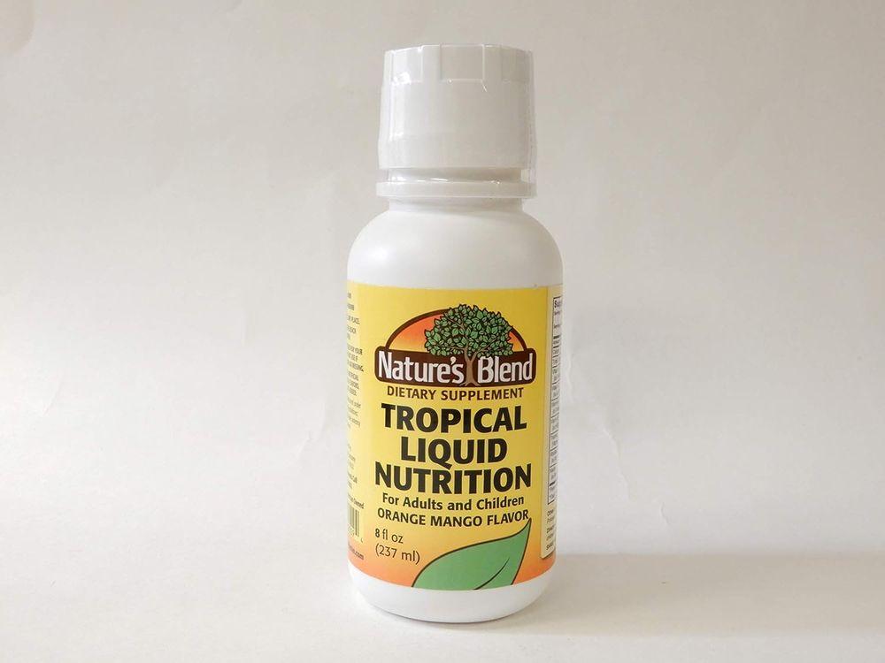 Nature's Blend Tropical Liquid Nutrition Multivitamin Formula 8 oz Liquid