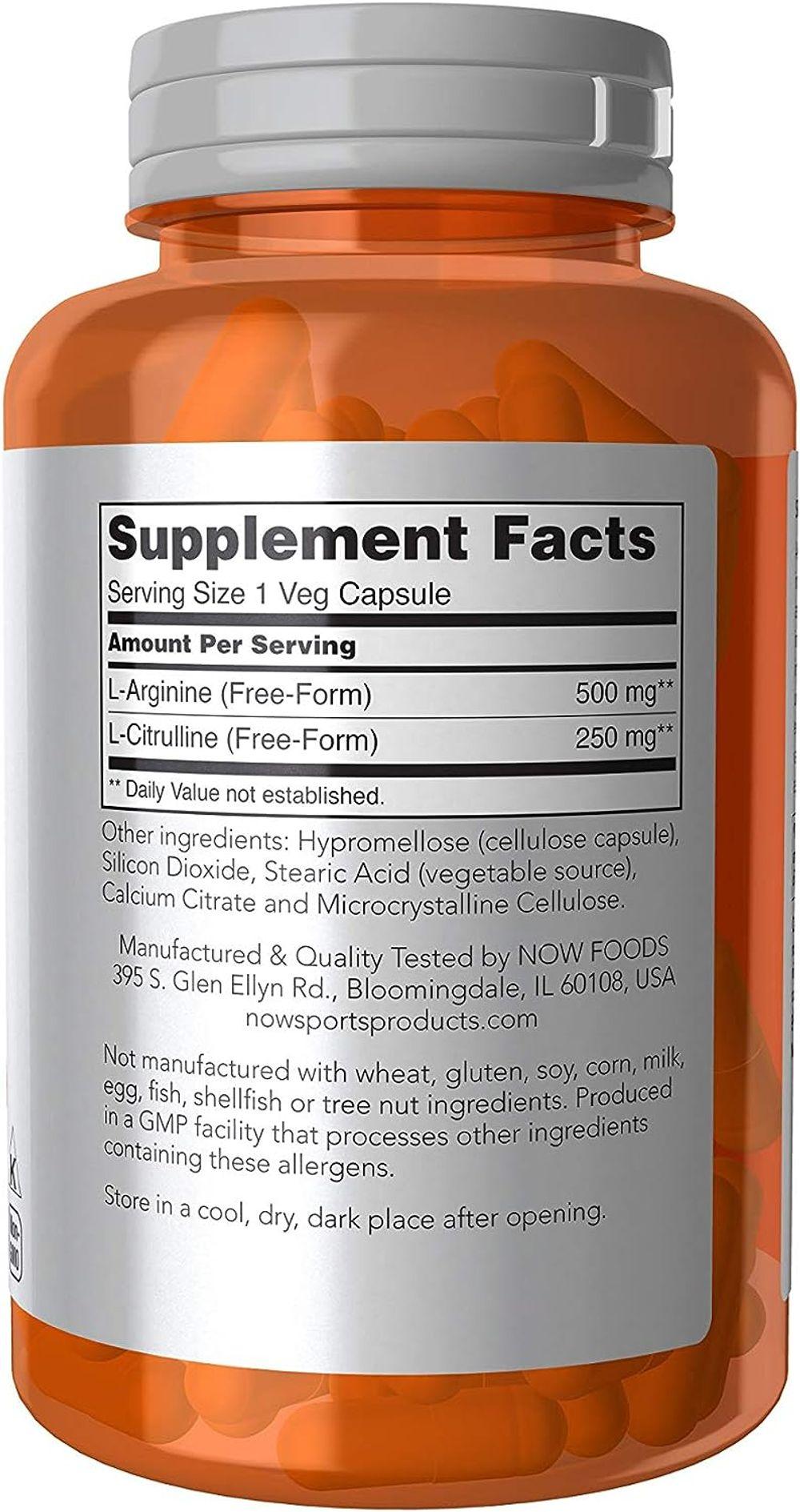 Now Foods Arginine & Citrulline Veg Capsules