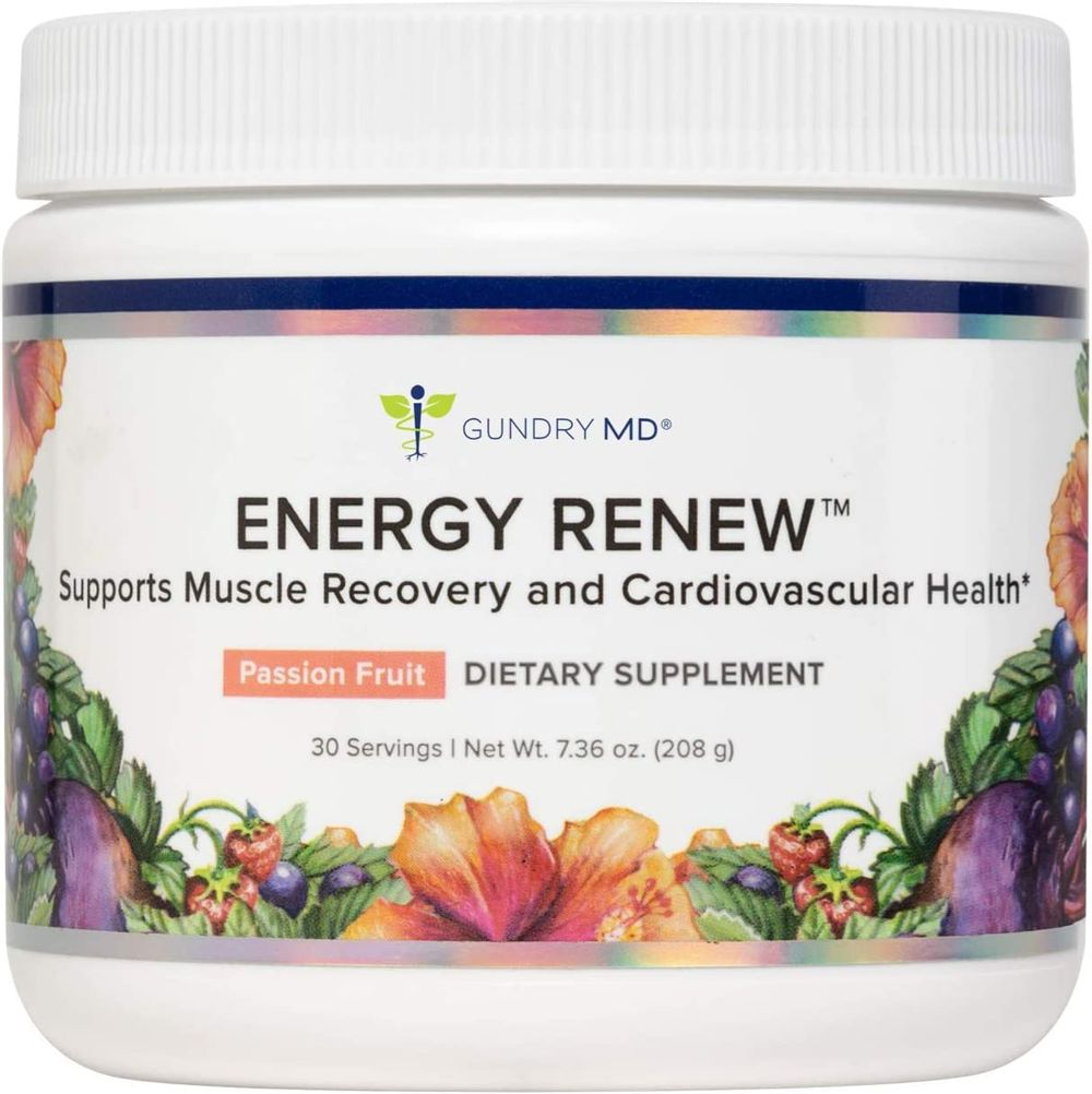 Gundry MD® Energy Renew Muscle Recovery and Cardiovascular Health Support Supplement, 30 Servings