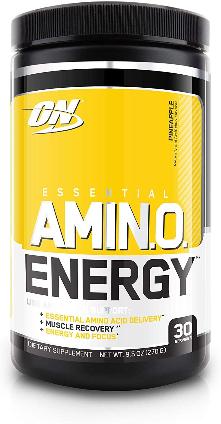 Optimum Nutrition Amino Energy - Pre Workout with Green Tea, BCAA, Amino Acids, Keto Friendly, Green Coffee Extract, Energy Powder - Pineapple, 30 Servings