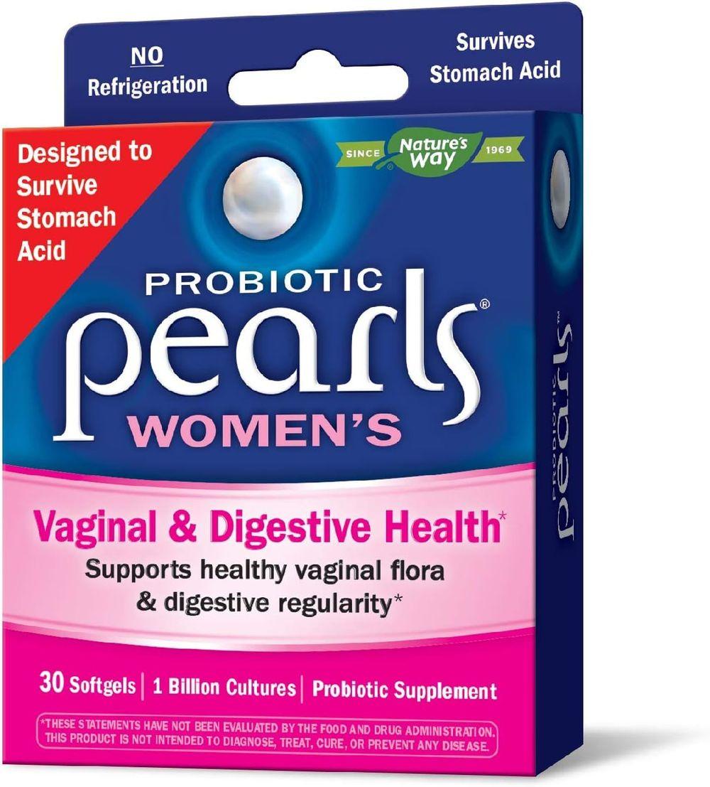 Nature's Way Probiotic Pearls Women's, 1 Billion Live Cultures, 30 Softgels