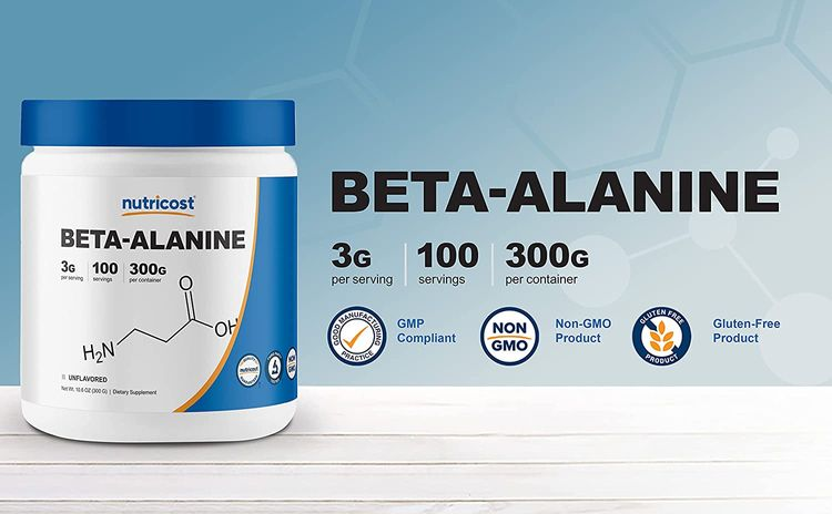 Nutricost Beta Alanine Powder 300 Grams (10.6oz) - 3 Grams Per Serving