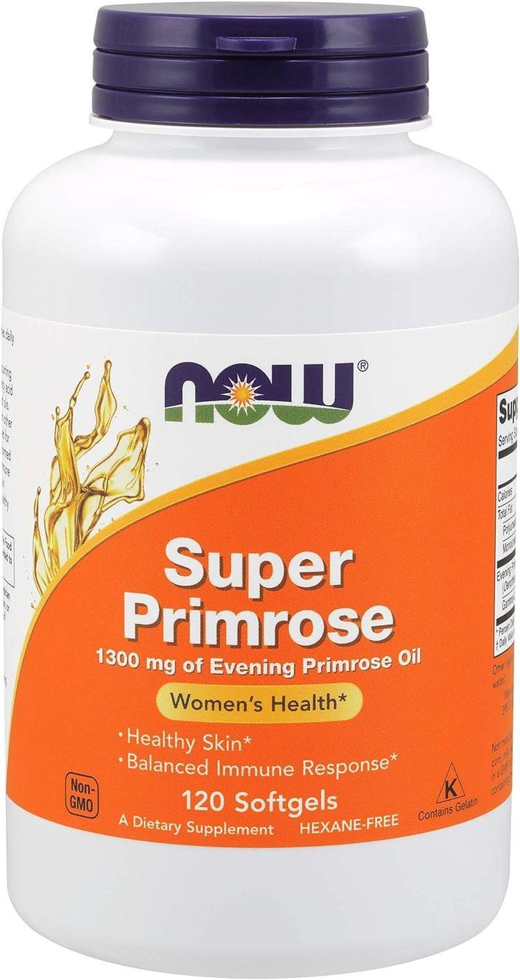 Supplements, Super Primrose 1300 mg with Naturally Occurring GLA (Gamma-Linolenic Acid), 120 Softgels