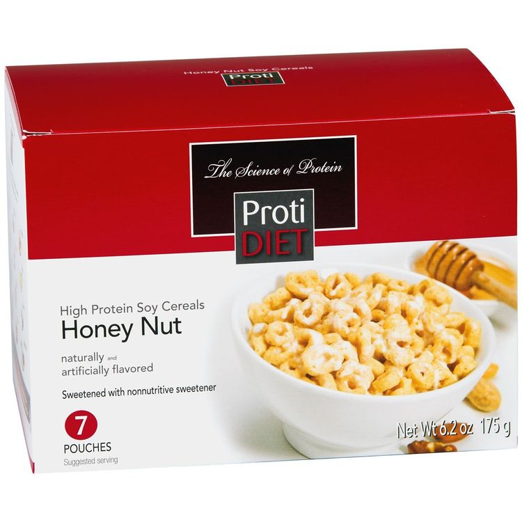ProtiDiet High Protein Soy Cereals - Honey Nut 6.2 oz. (7 servings)