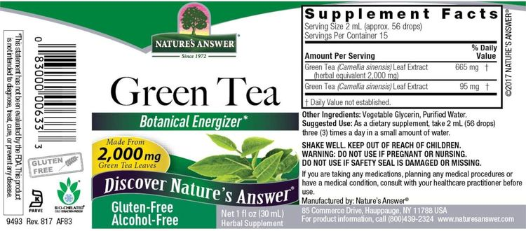 Nature's Answer Green Tea, 1 Ounce each (Value Pack of 2)