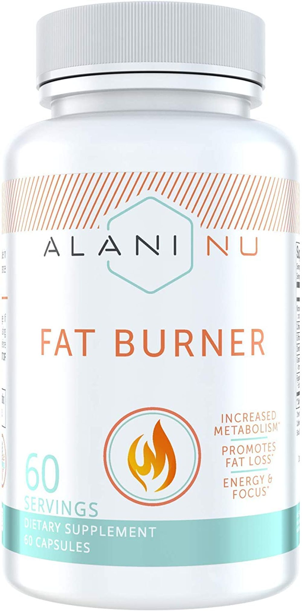 Alani Nu Premium Fat Burner Supplement, Metabolism Booster and Appetite Suppressant, 60 Day Supply, Packaging May Vary