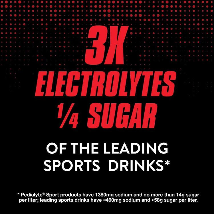 Pedialyte Sport Electrolyte Drink for Fast Hydration with 5 Key Electrolytes, Fruit Punch, 33.8 Fl Oz (Pack of 4)