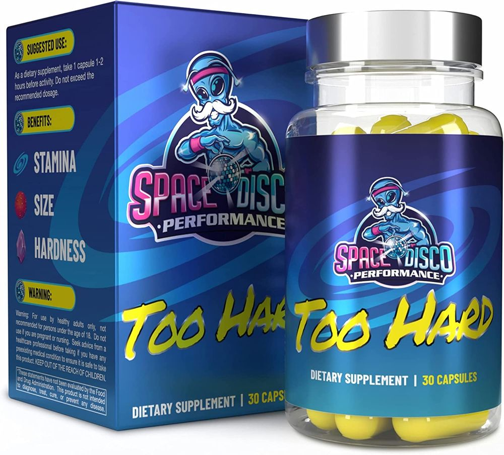 Too Hard REFORMULATED Energy Pills   Made in The USA (30 Count)