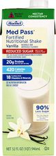 Med Pass Reduced Sugar Vanilla Flavor 32 oz. Carton Ready to Use, 22649 - Case of 12
