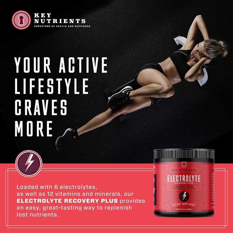 Electrolyte Powder, Cherry-Pom Hydration Supplement: 90 Servings, Carb, Calorie & Sugar Free, Delicious Keto Replenishment Drink Mix. 6 Key Electrolytes - Magnesium, Potassium, Calcium & More.