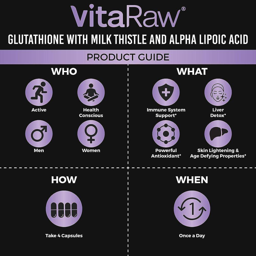 Glutathione 1000mg Immune Support, Liver Detox & Cleanse, Brain Booster, Anti Aging, Reduced Glutathione Supplement w/ Alpha Lipoic Acid, Anti Inflammatory Pure L Glutathione Skin Care Pills
