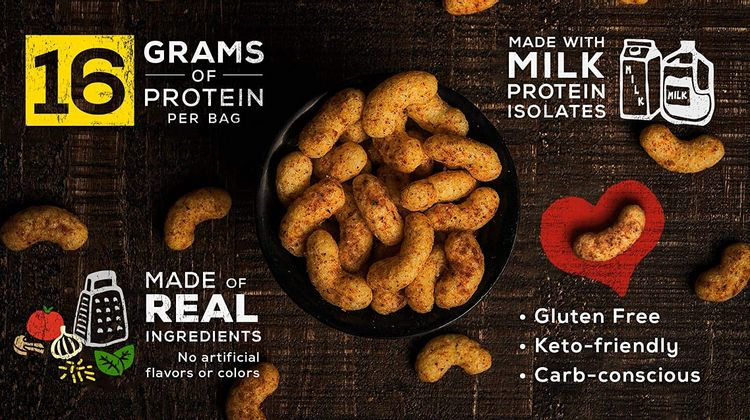 ONNIT Protein Power Puffs - Keto Friendly, Low Carb Snacks - Supreme Pizza Flavor - Gluten Free - 16g Protein & Only 4g Carbs - 8 Pack