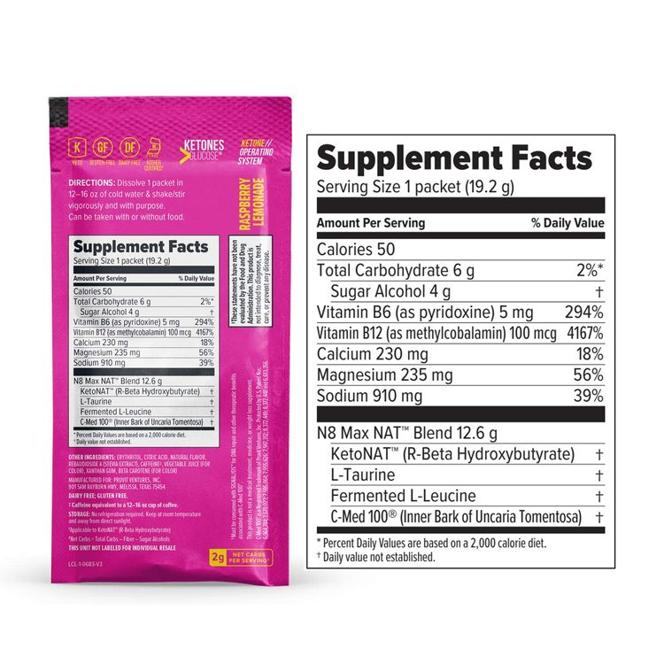 Keto//OS NAT® Raspberry Lemonade Keto Supplements – Charged - Exogenous Ketones - BHB Salts Ketogenic Supplement for Workout Energy Boost - Fat Burner Supplements for Men and Women (20 Count)