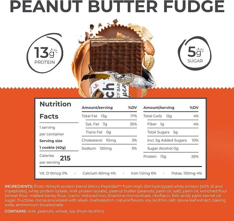 Power Crunch Protein Energy, Peanut Butter Fudge Butter Fudge, 1.4 Ounce (12 Count)