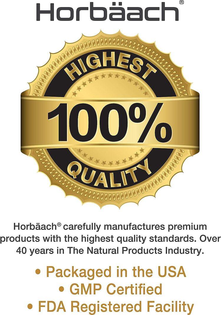 Horbaach GABA 750mg 100 Capsules | Non-GMO, Gluten Free | Gamma Aminobutyric Acid Supplement